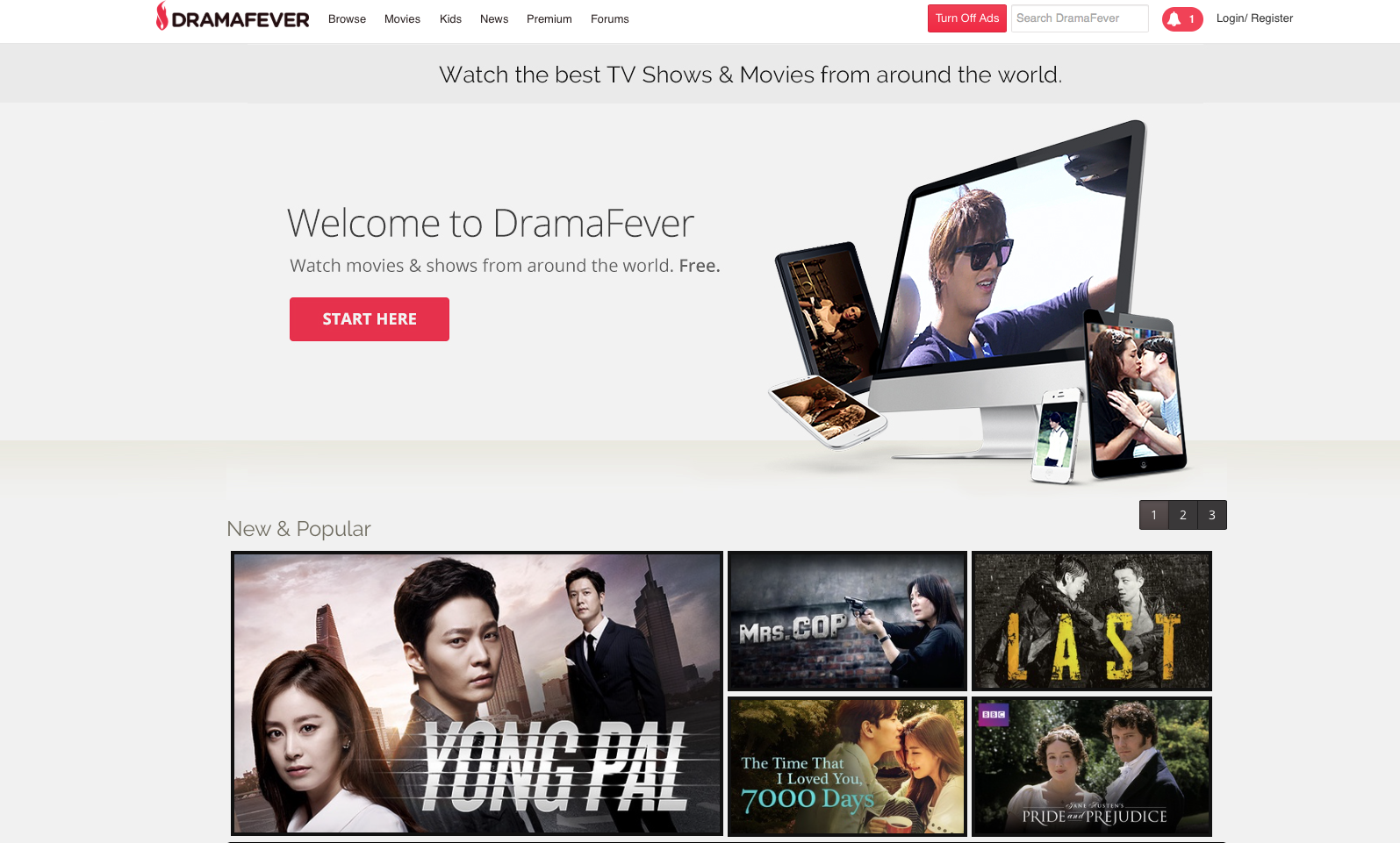 DramaFever website
