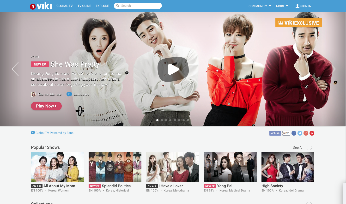 Viki front page